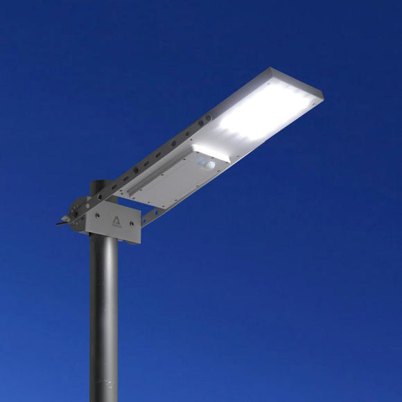 Commercial and Residential Solar LED Street Parking Lot Light, 1300 Lumen, 1 Year Warranty - Green Solar LED