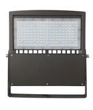 100W LED Flood Street Pathway Parking Lot Luminaire Flood Mount Light - UL/DLC, 5 Year Warranty - Green Solar LED