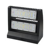 80W LED Rotatable Wall Pack Outdoor Entrance Courtyard Building Light -UL DLC - 5000K - Green Solar LED