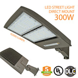 300W LED Street Outdoor Stadium Light With Shorting Cap, Direct Mount, 5 Year Warranty, DLC - Green Solar LED