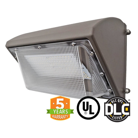 55W LED Wall Pack Light Semi Cut Forward Throw UL-DLC - Green Solar LED
