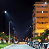 Commercial and Residential Solar LED Street Parking Lot Light, 6,000 Lumen, 3 Year Warranty - Green Solar LED