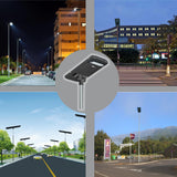 Commercial and Municipal Solar Street Parking Lot Light Fixture, 12000 Lumen, 3 Year Warranty - Green Solar LED