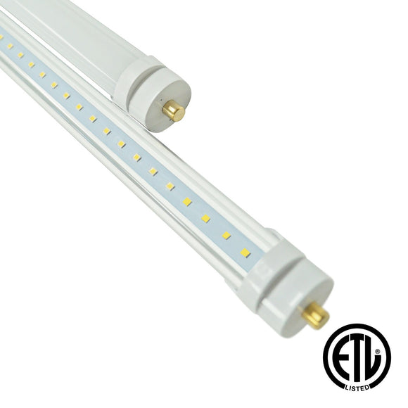 8ft 40W LED Linear Tube - Fa8 Socket - (ETL) - Green Solar LED