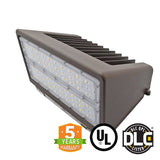 Full Cut Off 100W LED Wall Pack Light Bulb, 5000K Color, DLC - Green Solar LED
