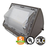 Semi Cutoff 80W LED Wall Pack Light Bulb, Forward Throw, DLC - Green Solar LED