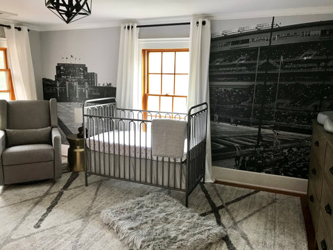 Sports Mural for baby room