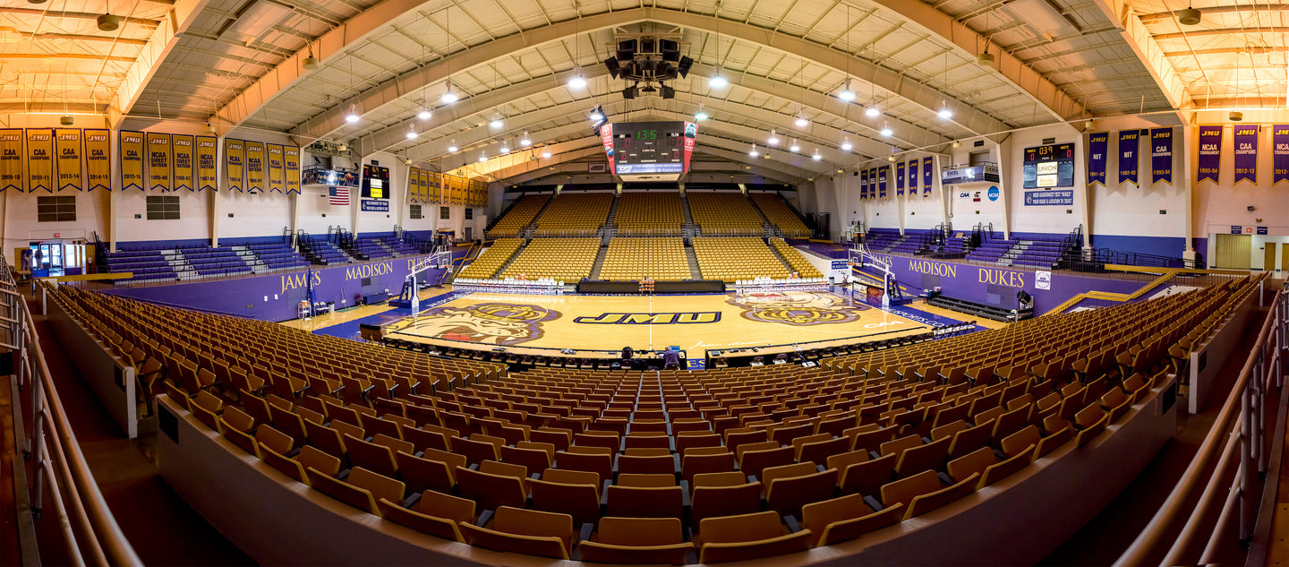 JMU Convocation Center, Half Court Empty