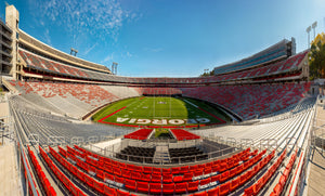 UGA Sanford Stadium Empty - Scoreboard End Zone View