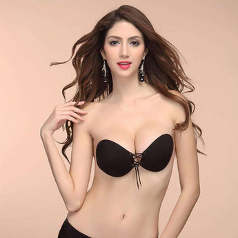 Adhesive Strapless Push-Up Bra