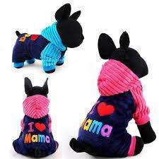 Warm Pet Coats - I Love Mama/Papa