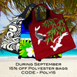 During September Get 15% off Polyester Bags
