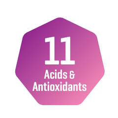 11 acids and antioxidants