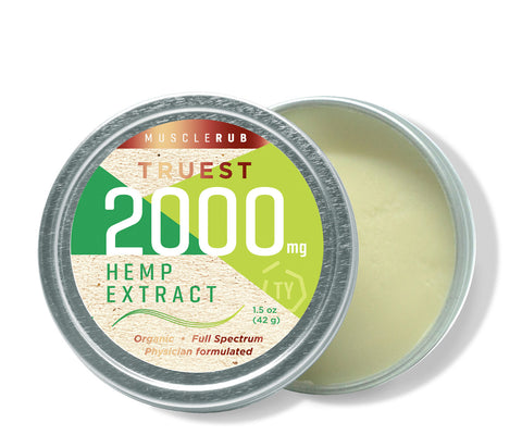 Truest Muscle Rub Hemp 2000 mg
