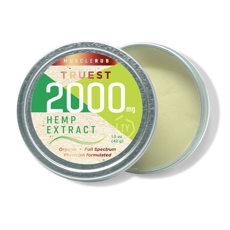 TruestYou TruestHemp 2000mg Hemp CBD Muscle Rub Inside
