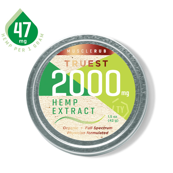 TruestYou TruestHemp 2000mg Hemp CBD Muscle Rub