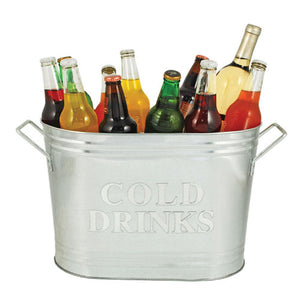 Country Home™ Cold Drinks Galvanized Metal Tub by Twine - Rare Crush