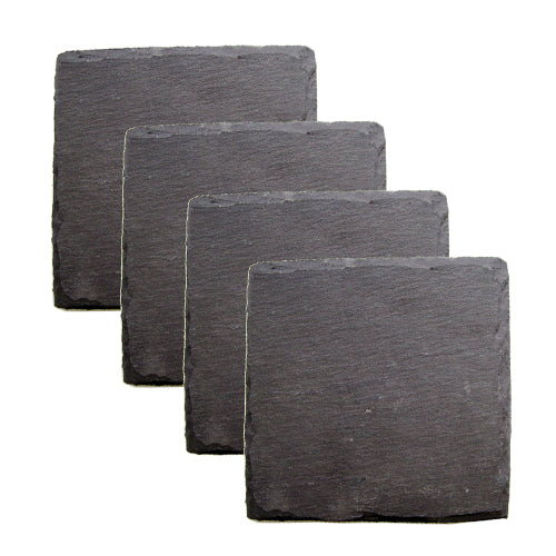 Country Home: Square Slate Coasters by Twine - Rare Crush