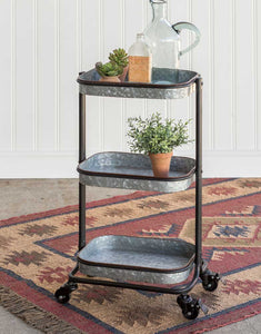 Three-Tier Serving Caddy with Casters - Rare Crush
