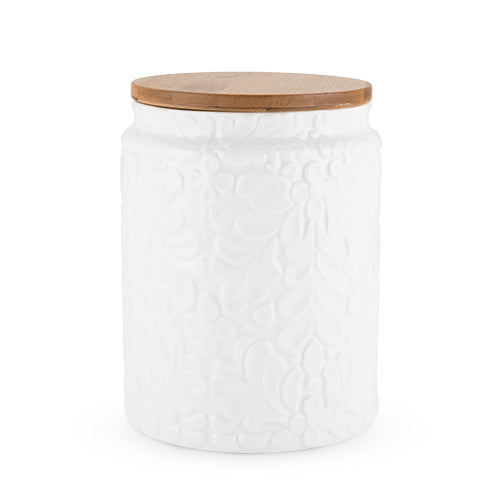 Textured Ceramic Small Canister by Twine® - Rare Crush
