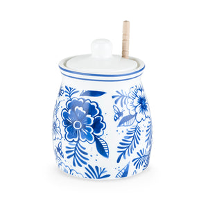 Indigo Floral Honey Jar by Twine - Rare Crush