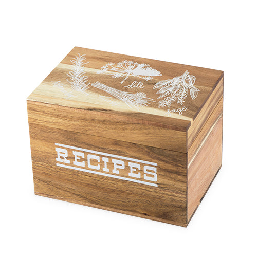 Pantry: Herb Garden Wood Recipe Box by Twine® - Rare Crush