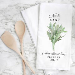 Herb & Veggy Botanical Tea Towel