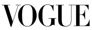 Vogue in capitalized black letters