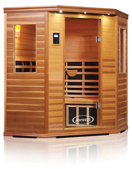 CLEARLIGHT PREMIER FAR INFRARED SAUNA - CORNER THREE PEOPLE - HigherDOSE