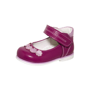 Fall/Spring Leather Shoe with Flowers 2-1072