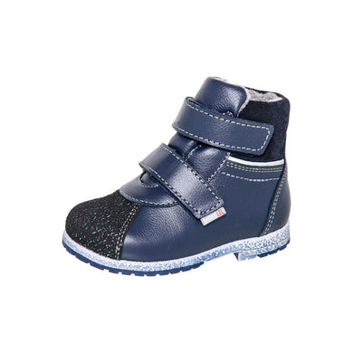 Fall/Spring Double Velcro Boot Blue 2-819