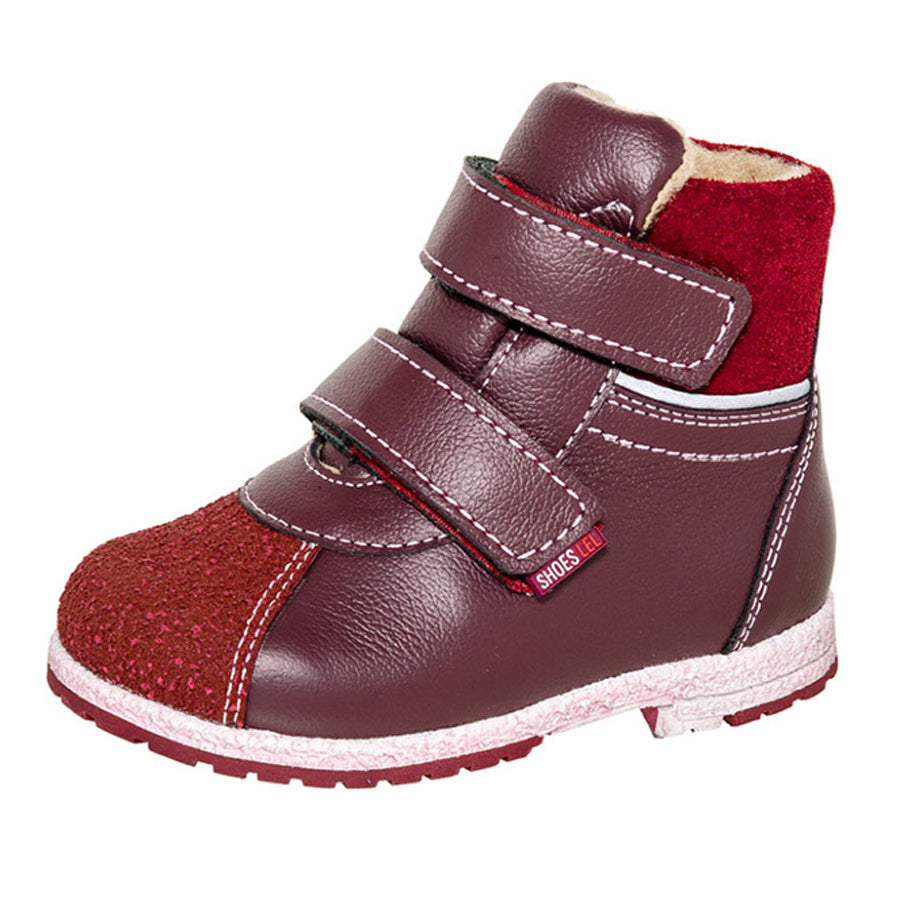 Fall/Spring Double Velcro Boot Red 2-819
