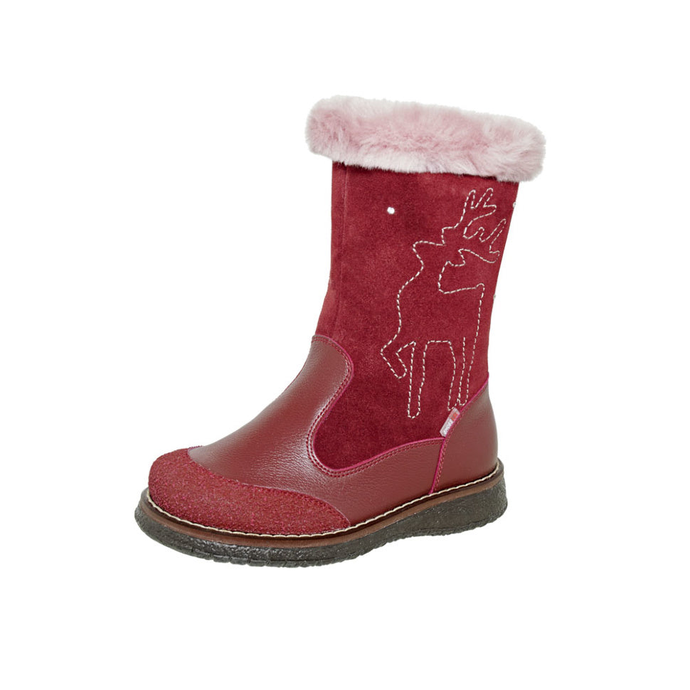 Winter Reindeer Red Child Size 3-1146