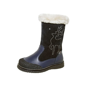 Winter Reindeer Blue Youth Size 3-1146