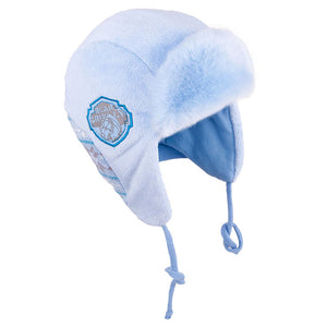Winter Hat with Ties Bear Design Blue 3-002677