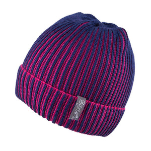 Knit Hat Two Tone Navy 3-003130
