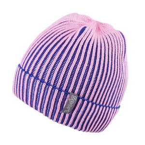 Knit Hat Two Tone Pink 3-003130