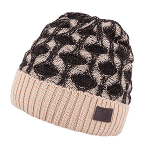 Knit Hat Merino Wool Beige 3-003192
