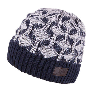 Knit Hat Merino Wool Navy 3-003192