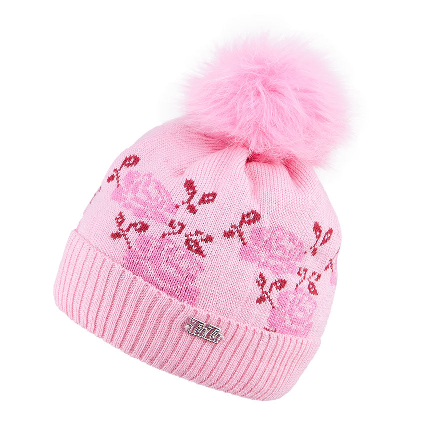 Knit Hat Merino Wool Rose Pink 3-003776