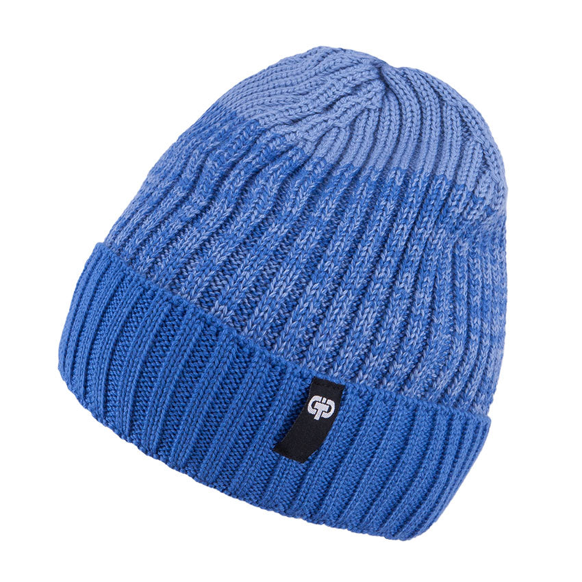 Knit Hat Merino Wool Unlined Blue 3-003778