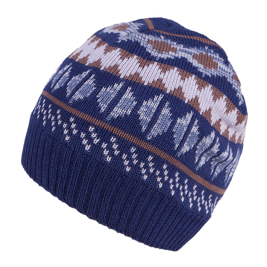 Knit Hat Merino Wool Navy 3-003782
