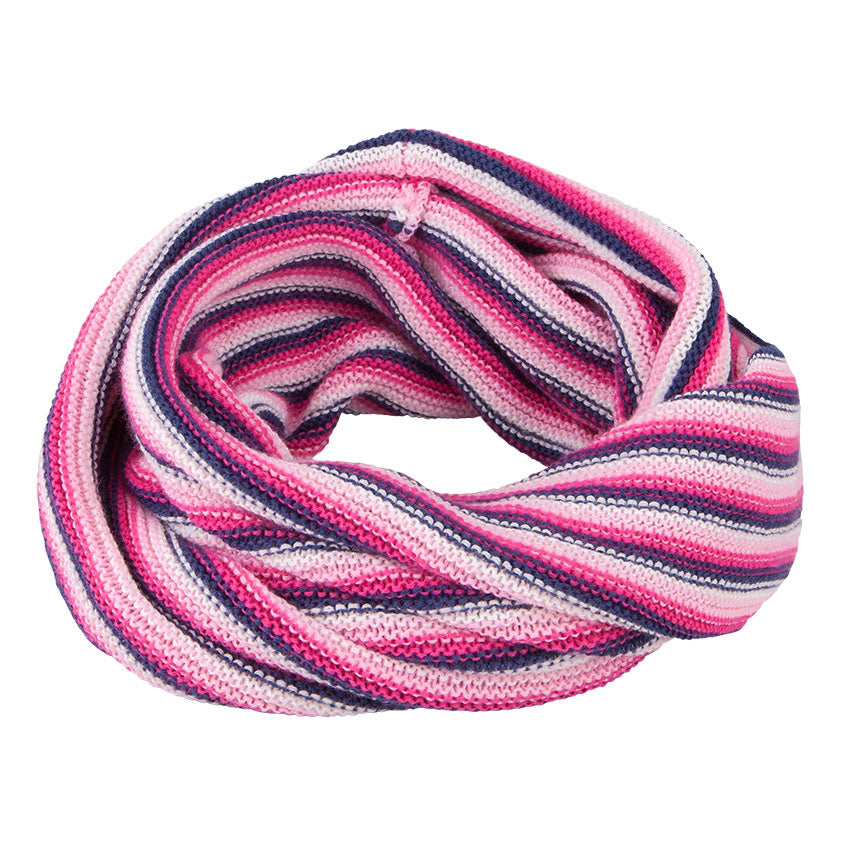 Neck Warmer Acrylic/Wool Stripes Violet 3-003850