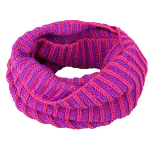 Neck Warmer Acrylic/Wool Two Tone Pink 3-003851