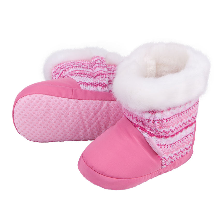 Winter Booties Knitted Pink 3-003888