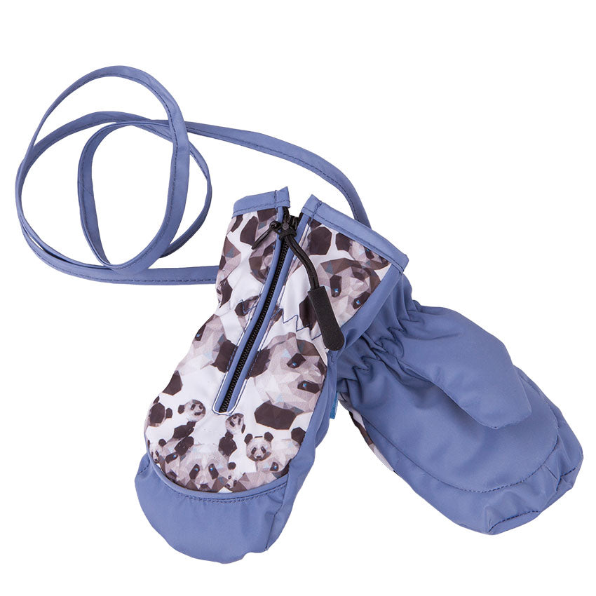 Mittens Waterproof Pandas Blue 3-004357