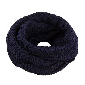 Neck Warmer Snood Knitted Black 3-003903
