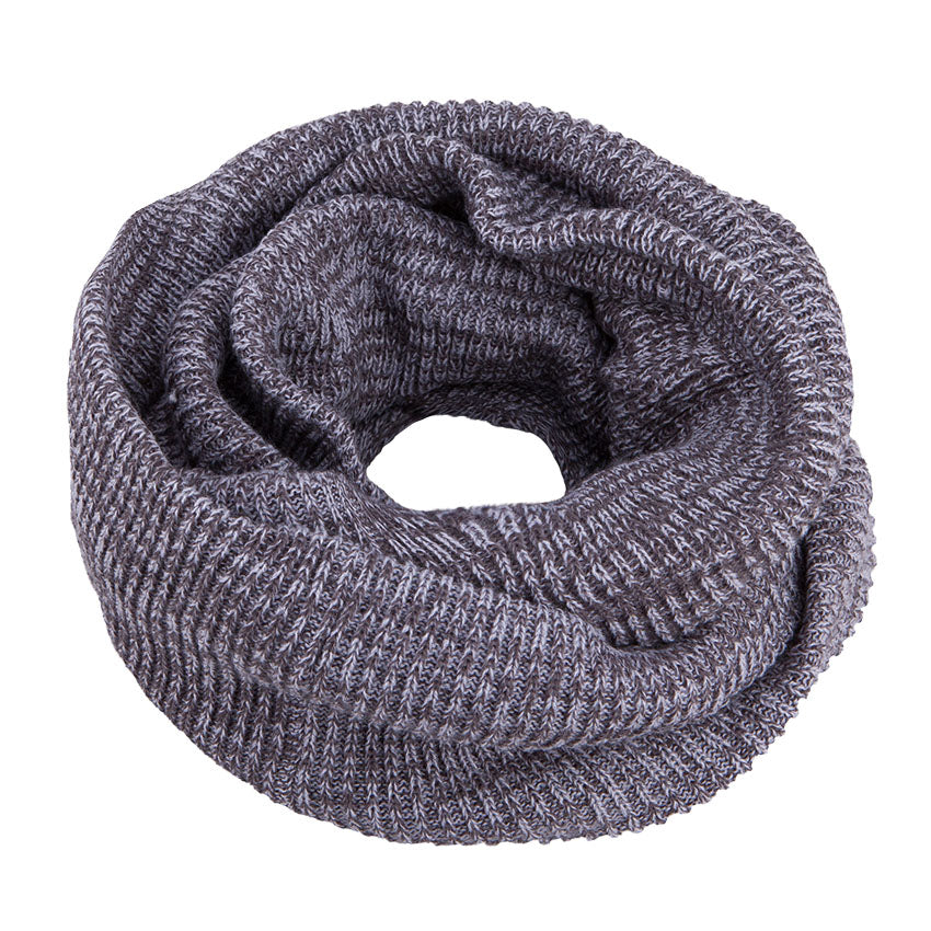 Neck Warmer Snood Knitted Grey 3-003903