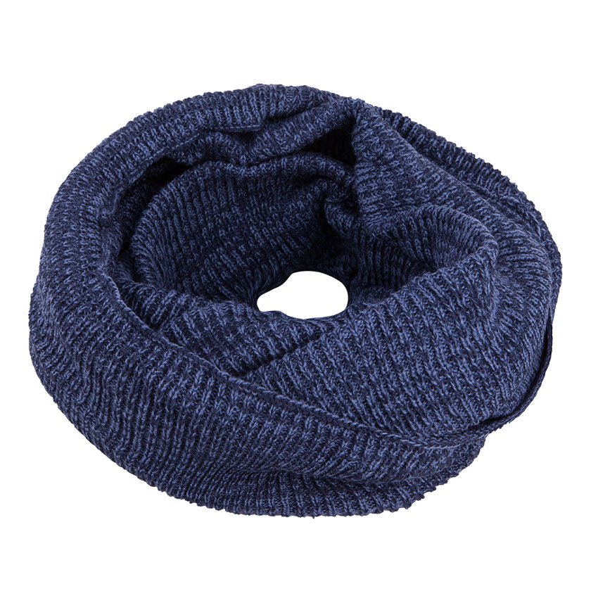 Neck Warmer Snood Knitted Navy 3-003903