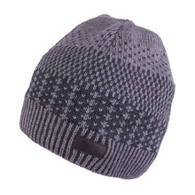 Knit Hat Grey with Snood 3-004177